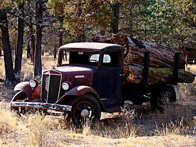 International Log Truck Art Print