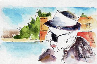Painting - International Man Of Mystery by Pat Katz