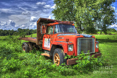 Photograph - International Retirement Home 1974 Ih Truck by Reid Callaway