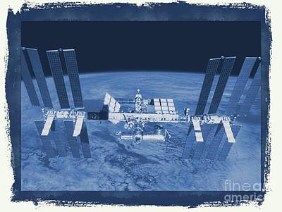 Science Fiction Royalty-Free and Rights-Managed Images - International Space Station by Raphael Terra