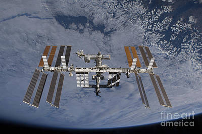 Satellite View Photograph - International Space Station Set by Stocktrek Images