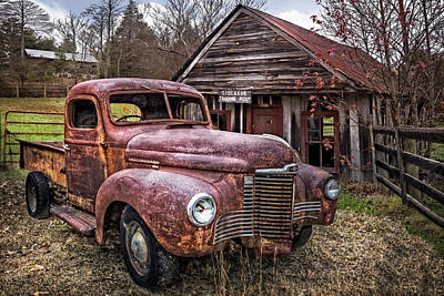 Antique Automobiles Photograph - International Trading Post by Debra and Dave Vanderlaan