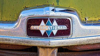 Photograph - International Truck Emblem by Jerry Fornarotto