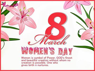 Design Wall Art - Digital Art - International Woman's Day by Super Lovely