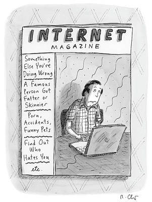 Drawing - Internet Magazine by Roz Chast