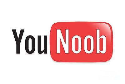 Harlem Digital Art - Internet Memes  You Tube Parody You Noob by Paul Telling