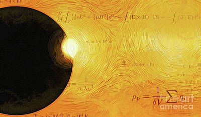 Mixed Media - Interplanetary Calculations by Tim Richards