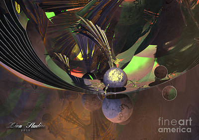 Symmetry Digital Art - Interplanetary Chaos  by Melissa Messick