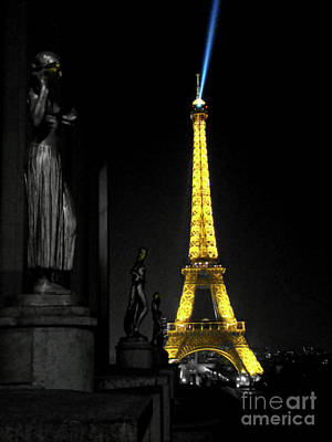 Photograph - Interpretation Of The Eiffel Tower In Paris IIi by Al Bourassa