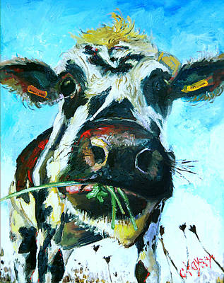 Moo Moo Painting - Interruption by Claire Kayser