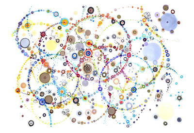 Drawing - Intersecting Orbits by Regina Valluzzi