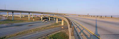 Interstate 10 And 15 In California Art Print by Panoramic Images