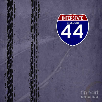 Missouri Drawing - Interstate 44 Missouri by Pablo Franchi