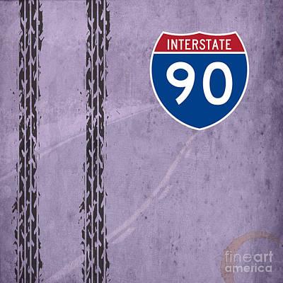 Birthday Present Drawing - Interstate 90 by Pablo Franchi
