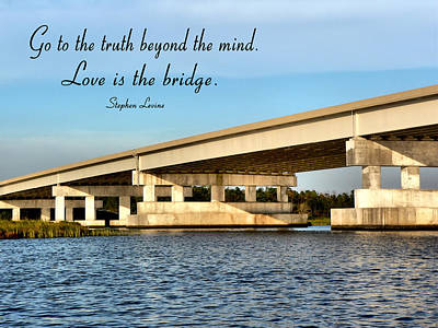 Photograph - Interstate Bridge With Text by Kathy K McClellan