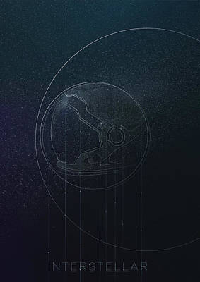 Digital Art - Interstellar Movie Poster by IamLoudness Studio