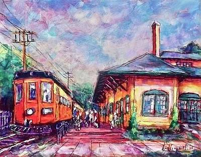 Painting - Interurban Then And Now by Les Leffingwell