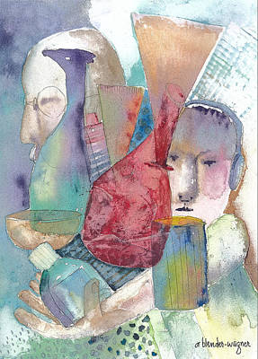 People Mixed Media - Intervention In Abstract by Arline Wagner