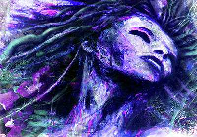 Goddess Digital Art Mixed Media - Interweaving by Zoe Oakley