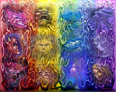 Digital Art - Interwoven Spectrum Of Emotions by Kevin Middleton