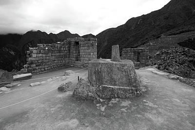 Photograph - Intihuatana Stone At Machu Picchu by Aidan Moran