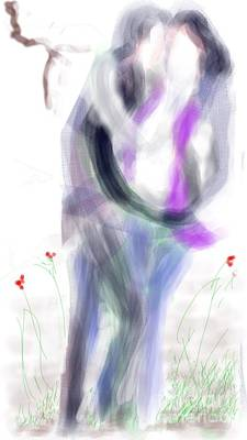 Digital Art - Intimacy A Smartphone Drawing by Subrata Bose