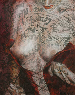 Nude Painting - Intimacy 2 - Coquine by Florence Liger d'Avignon