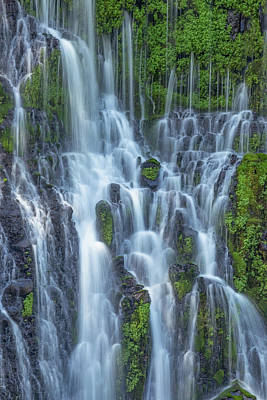 Print featuring the photograph Intimate Burney Falls by Patricia Davidson