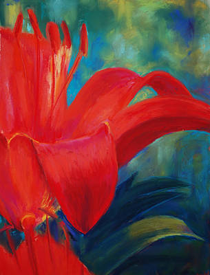 Loveland Painting - Intimate Lilly by Billie Colson