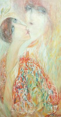 Painting - Intimate Talk To Prague Spirit by Anna Skorko