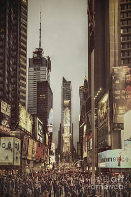 Times Square Photograph - Into A Sea Of Souls by Evelina Kremsdorf
