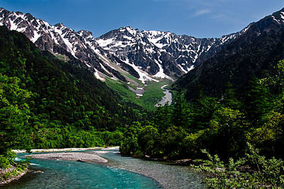 Into Kamikochi Art Print by Michael Wessel