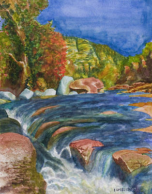 Into Slide Rock Art Print