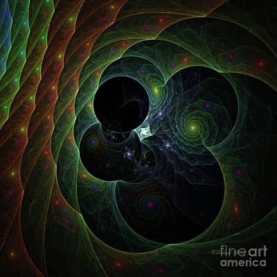 Digital Art - Into Space And Time by Deborah Benoit