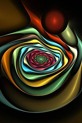 Digital Art - Into The Abyss by Rick Chapman