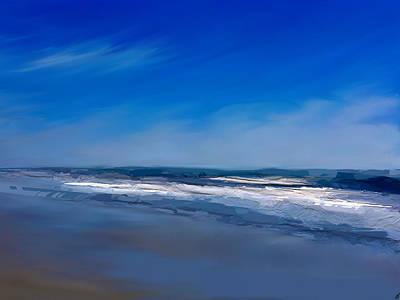 Digital Art - Into The Blue by Anthony Fishburne