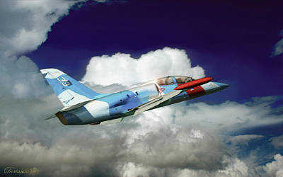 Airplane Digital Art - Into The Blue by Dorian Dogaru