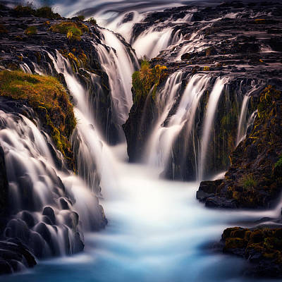 Waterfall Photograph - Into The Blue by Stefan Mitterwallner