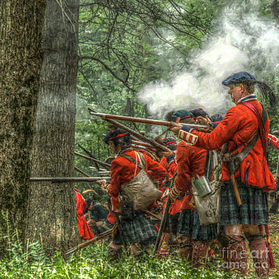 Seven Years War Digital Art - Into The Breech by Randy Steele