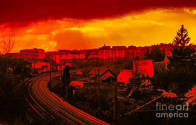 Besancon Photograph - Into The City At Sunset by Gregory Schultz