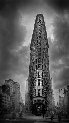 Flat Iron Building Photograph - Into The Clouds Bw by Marvin Spates