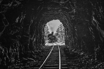 Photograph - Into The Dark Tunnel by Shelly Gunderson
