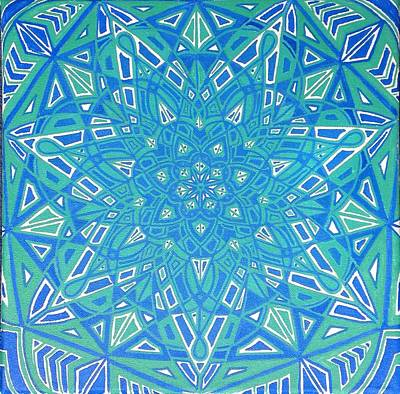 Fractal Geometry Painting - Into The Flow by Sarah Greene