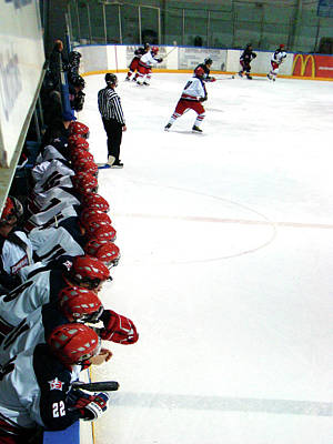 Hockey Games Photograph - Into The Game by Al Bourassa