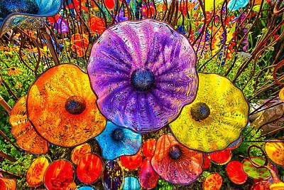 Wall Art - Photograph - Glass Garden Flowers by J Thomas