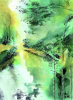 Painting - Into The Green by Anil Nene