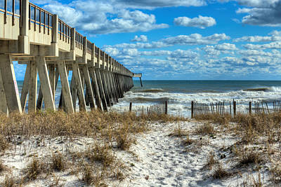 Navarre Beach Photograph - Into The Gulf At Navarre Beach by JC Findley