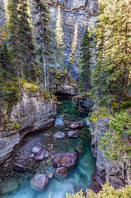 Photograph - Into The Heart Of Maligne Canyon by Pierre Leclerc Photography