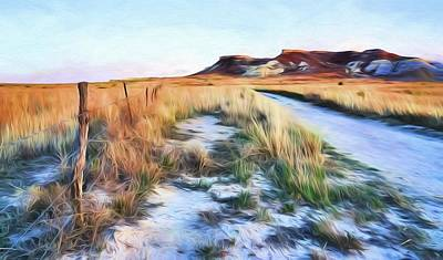 Digital Art - Into The Kansas Badlands by JC Findley