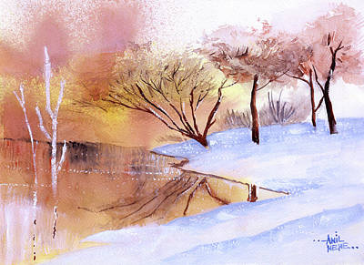 Painting - Into The Lake by Anil Nene